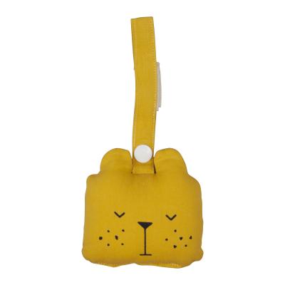 jouet d'éveil hochet ours moutarde bio fabelab
