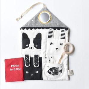 Tapis d'activité BIO noir et blanc wee gallery