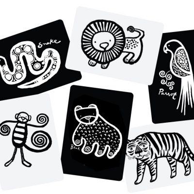 imagier noir et blanc étique FSC