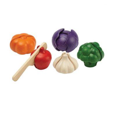 5 légumes à découper en bois