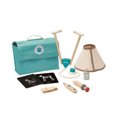 valise vétérinaire kit docteur en bois