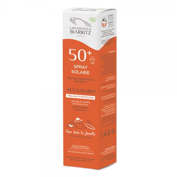 crème solaire bio laboratoires de Biarritz spray