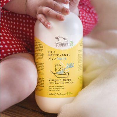 eau nettoyante bébé bio laboratoire biarritz