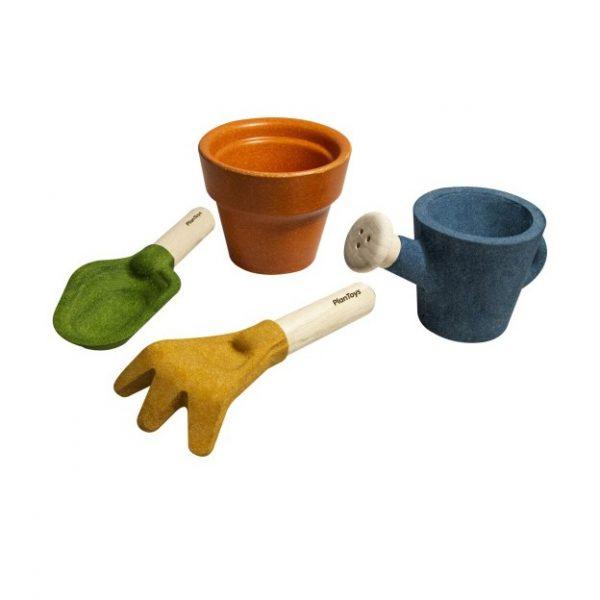 set jardinage enfant jouet en bois enfant
