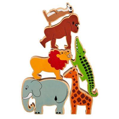 animaux de la savane en bois lanka kade