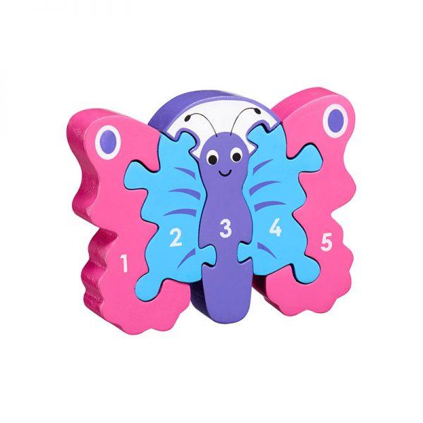 puzzle chiffres en bois lanka kade papillon