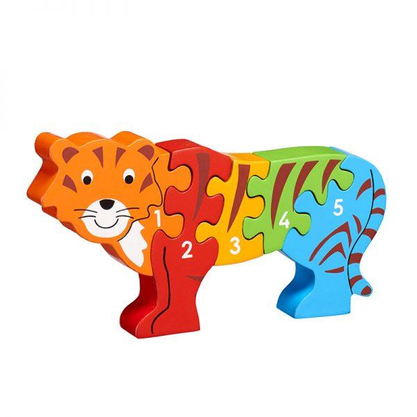 puzzle lanka lade tigre en bois chiffres