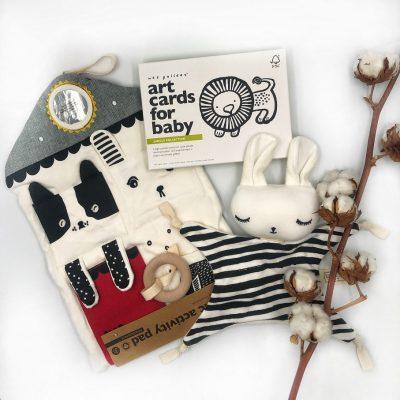 éveil noir et blanc Montessori cadeau naissance