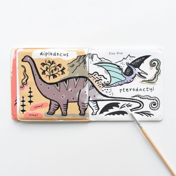 jouet dinosaure livre coloriage eau magique