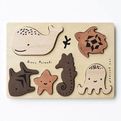 puzzle bois encastrement montessori