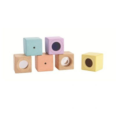 Blocs sensoriels pastel plan toys jouet éveil