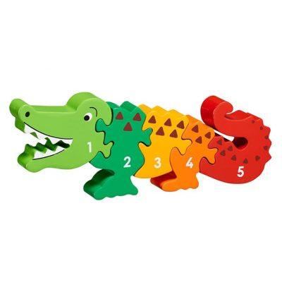 Puzzle chiffres Lanka Kade 1-5 en bois Crocodile