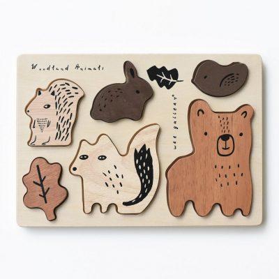 puzzle à encastrer wee gallery forêt