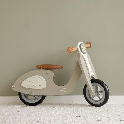 draisienne en bois little dutch scooter vert olive